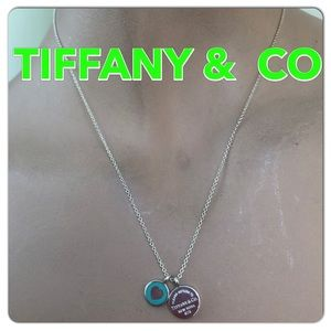 🔴Authentic TIFFANY & CO Double Pendents Necklace